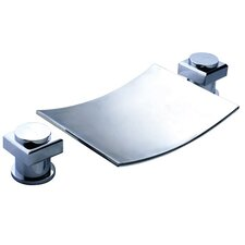 Double Handle Deck Mount Tub Faucet with Handheld Sprayer