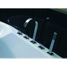 Triple Handle Deck Mount Tub Faucet with Handshower