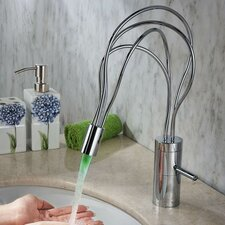 Single Handle Deck Mount LED Bathroom Sink Faucet
