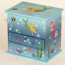 Alana Mermaid Chest Style Musical Jewellery Box