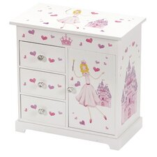 Alexandra Princess and Castle Chest Style Musical Jewellery Box
