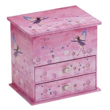 Trixie Pretty Purple Fairy Chest Style Musical Jewellery Box