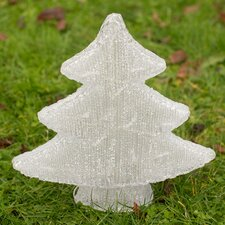 Christmas Tinsel Tree Lighted Display