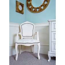 Louis Cream Upholstered Dining Chair