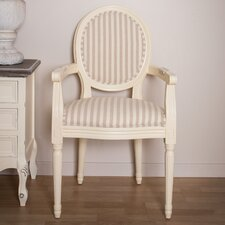 Louis Round Back Striped Carver Arm Chair