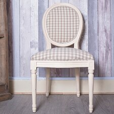 Louis Round Back Chequered Dining Chair