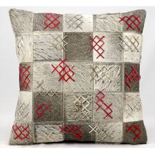 Together Leather Throw Pillow