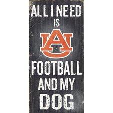 NCAA Football and My Dog Textual Art Plaque