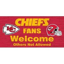NFL Fans Welcome Graphic Art Plaque