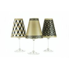 "4.5"" New York Paper Wine Glass Lamp Shade (Set of 6)"