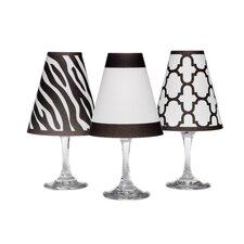 "4.5"" Manhattan Paper Wine Glass Empire Lamp Shade (Set of 6)"