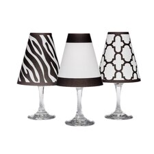 "4.5"" Manhattan Paper Wine Glass Lamp Shade (Set of 6)"