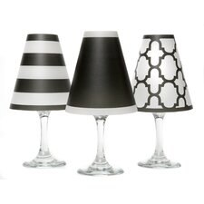 "4.5"" Nantucket Paper Wine Glass Empire Lamp Shade (Set of 6)"