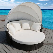 Cerbere Flat Rattan Daybed with Cushions