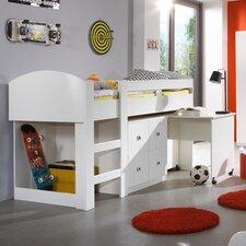 Hochbett Lenny mit Schreibtisch und Kommode, 90 x 200 cm