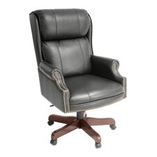 Ivy League High-Back Traditional Judges Leather Executive Chair