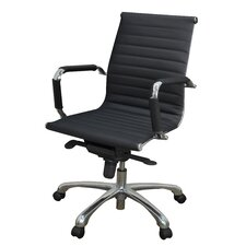 Solace Mid Back Leather Professional Chair with Arms