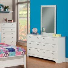 Hailey 6 Drawer Dresser with Mirror