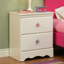 Dulce 2 Drawer Nightstand
