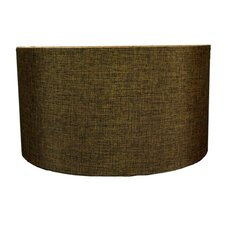 "18"" Shallow Burlap Drum Lamp Shade"
