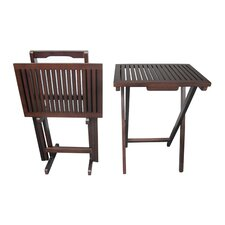 Mahogany 3 Piece Tray Table Set