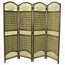 """69"""" x 59"""" Seagrass 4 Panel Room Divider"""
