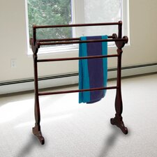 Free Standing Carved Towel Rack