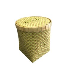 Round Bamboo Basket with Lid