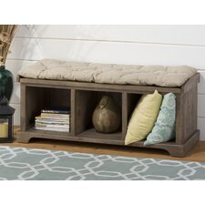 Slater Mill Wood Storage Entryway Bench