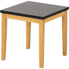 Lenox End Table with Black Melamine Top