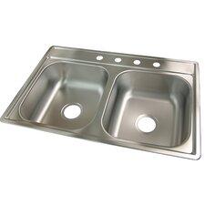 """33"""" x 22"""" 4 Hole Kitchen Sink"""
