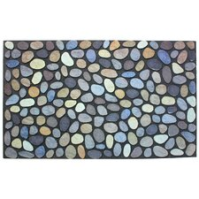 Pebbles Printed Flocked Doormat