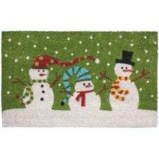 Christmas Three Snowmen Doormat