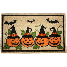 Halloween Row of Pumpkins Doormat
