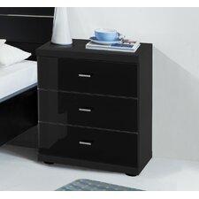 2-tlg. Nachttisch-Set Miro mit 3 Schubladen