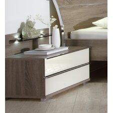 2-tlg. Nachttisch-Set Loft mit 2 Schubladen