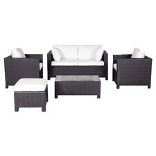 Milano 5 Piece Deep Seating Group with Cushion