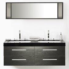 """55"""" Double Bathroom Vanity Set with Mirror"""