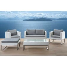 Crema Garden Furniture 5 Piece Deep Seating Group with Cushions