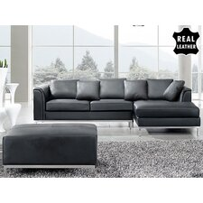Oslo 3 Piece Leather Living Room Set