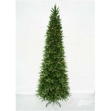 12' Unlit Artificial Slender Tree with Metal Stand