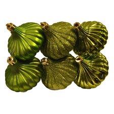 Ridged Onion Christmas Ornament (Set of 6)