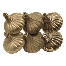 Ridged Onion Christmas Ornament (Set of 6)