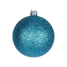 Glitter Ball Christmas Ornament (Set of 12)