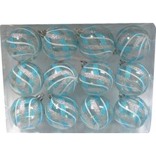 Ball Ornament with Design (Set of 12)