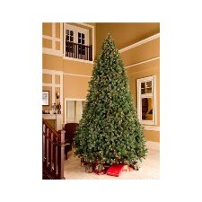 12' Unlit Artificial Fir Tree with Metal Stand