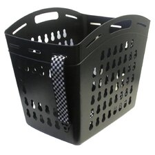 1.5 Bushel Hands Free Laundry Tote with Checked Straps