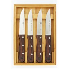 Steakhouse Steak Knife Set with Storage Case (Set of 4)