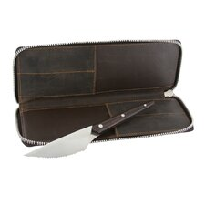Gentlemen's Steak Knife Set with Leather Travel Case (Set of 4)