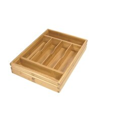 Bamboo Flatware Storage Tray